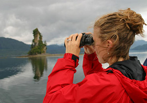 Sightseeing marine view in Southeast Alaska